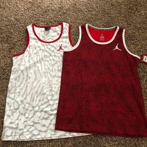 2 Brand new!!!! Jordan sleeveless shirts
